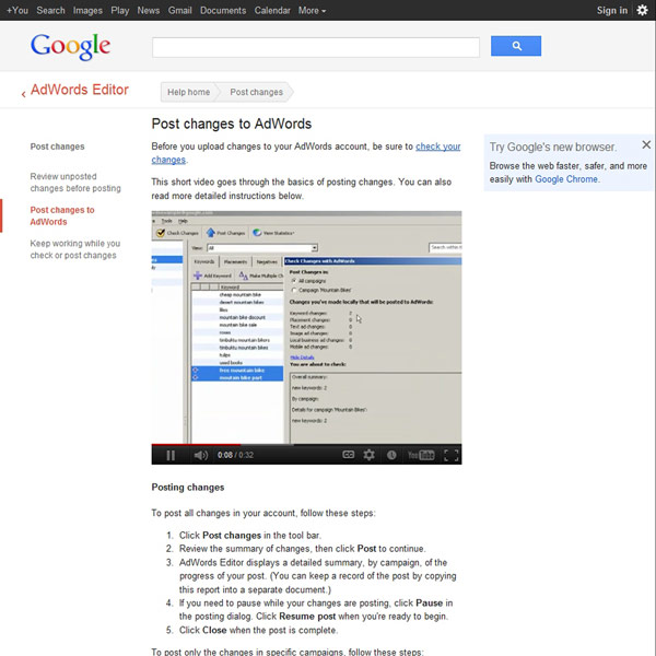 AdWords Editor Post