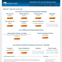 AdWords Seminars for Success screenshot