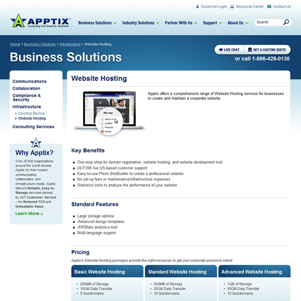 Apptix Website Hosting
