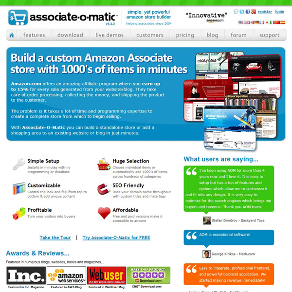 Associate-O-Matic Homepage