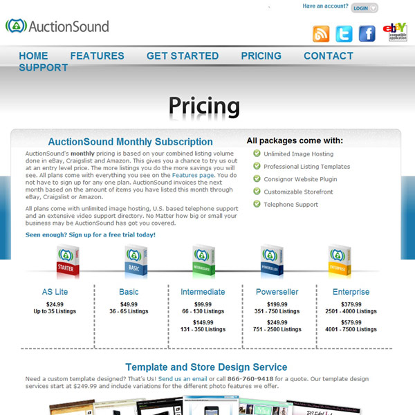AuctionSound Pricing