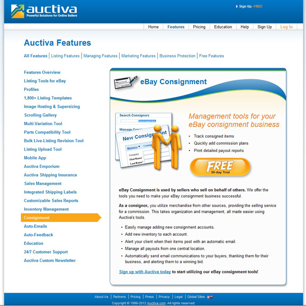 Auctiva Consignment