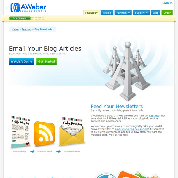 AWeber RSS-to-Email