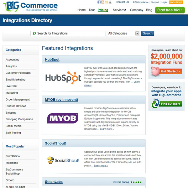 BigCommerce Integration and Apps