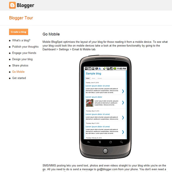 Blogger Go Mobile