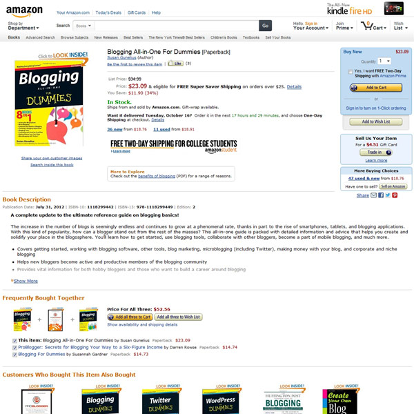 Blogging All In One For Dummies Homepage