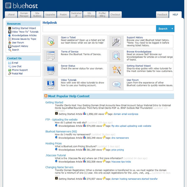 Bluehost Help Center