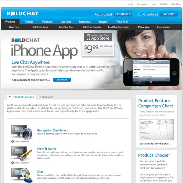 BoldChat iphone