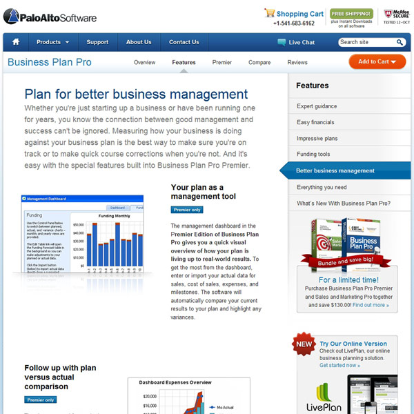 Business Plan Pro Business Managment