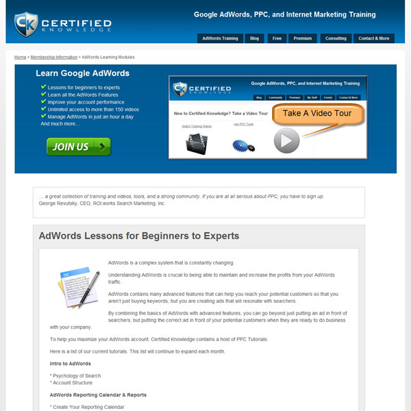 Certified Knowledge Homepage