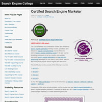 Certified Search Engine Marketer screenshot