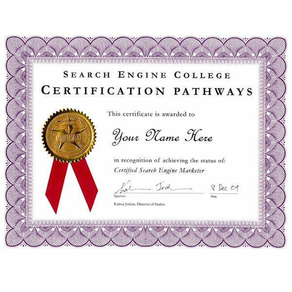 Certified Search Engine Marketer Certificate