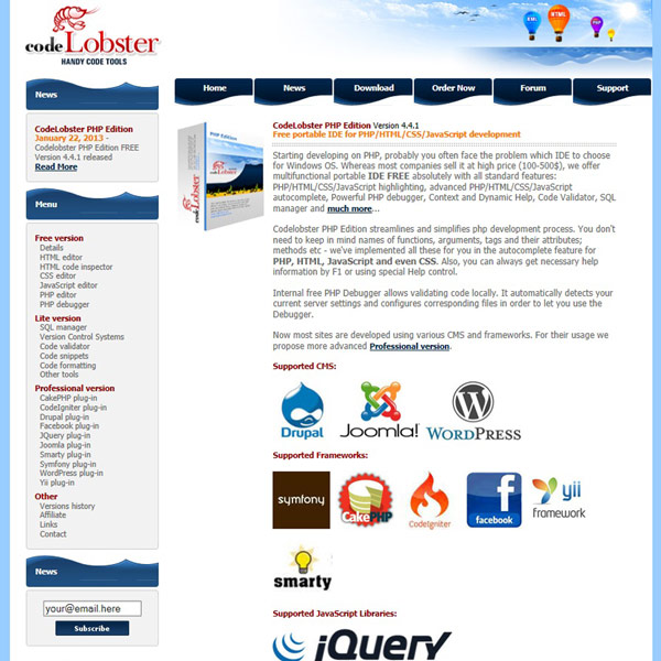 CodeLobster Homepage