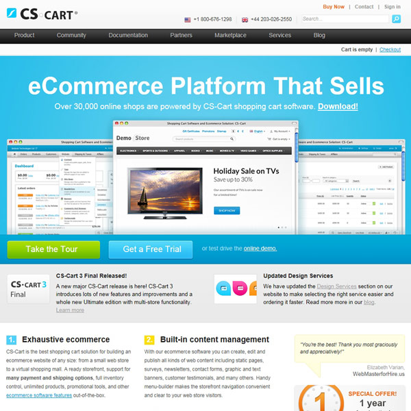 CS-Cart Homepage