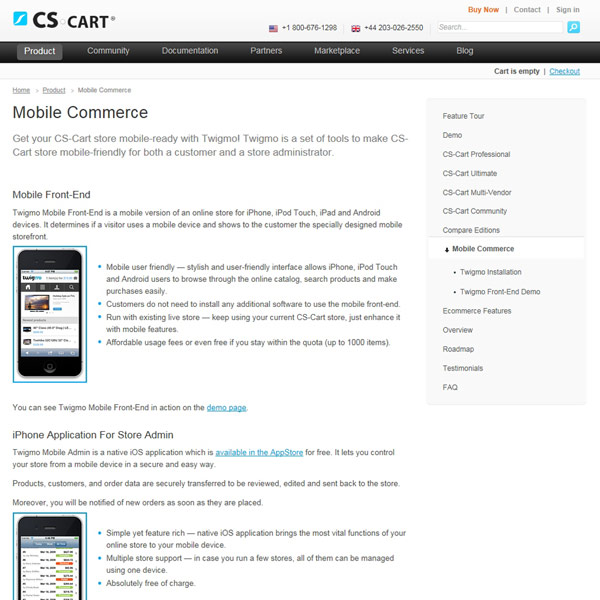 CS-Cart Mobile Commerce
