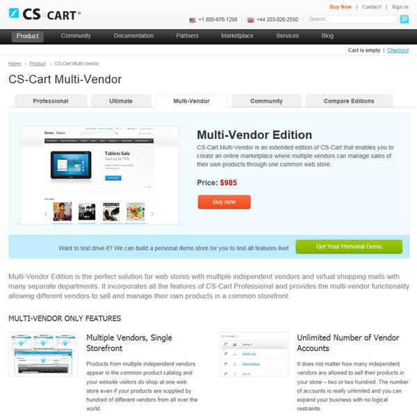 CS-Cart Multi Vendor Edition
