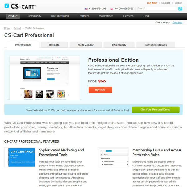 CS-Cart Professional Edition