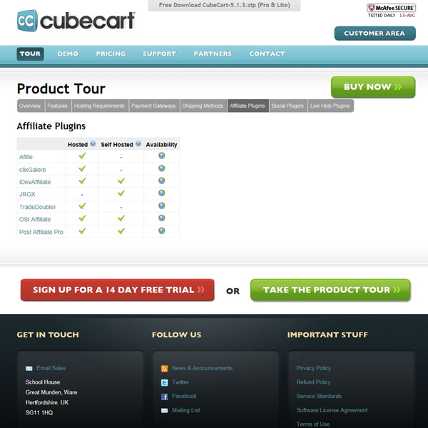 CubeCart Affiliate Plugins