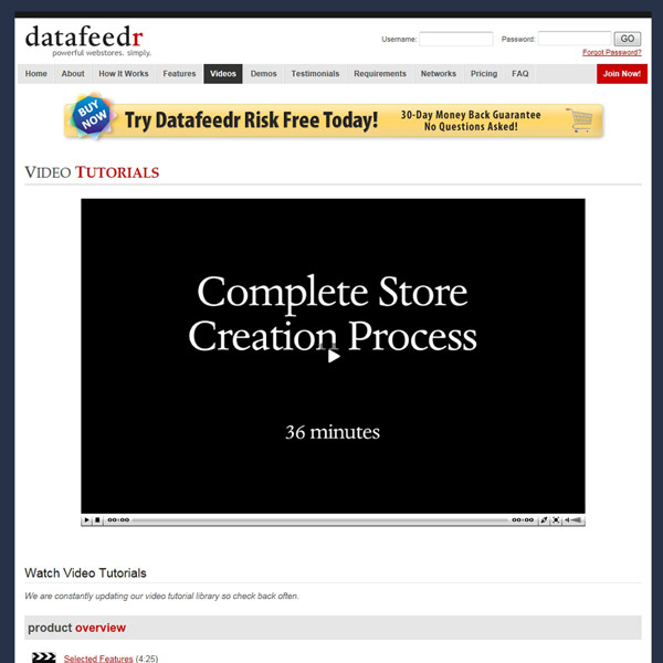 Datafeedr Video Tutorials