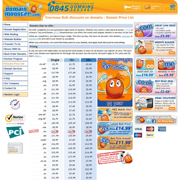 Domainmonster.com Bulk Discounts