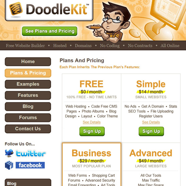 Doodlekit Plans and Pricing