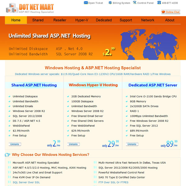 Dot Net Mart Homepage