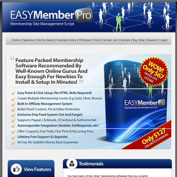 EasyMemberPro Homepage