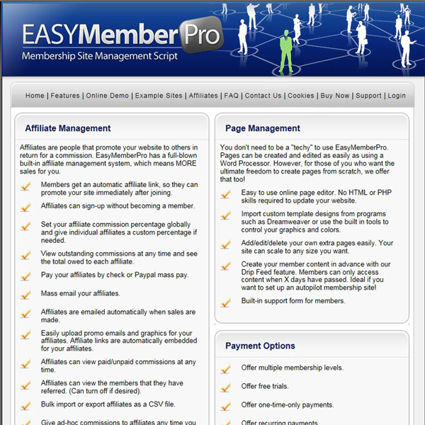 EasyMemberPro Features