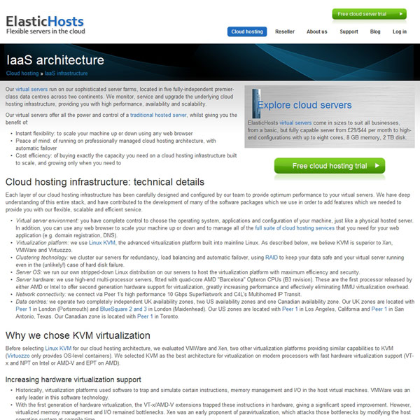 ElasticHosts IaaS Architecture