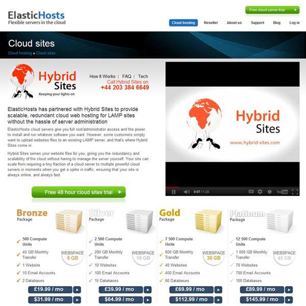 ElasticHosts Lamp Sites Hosting