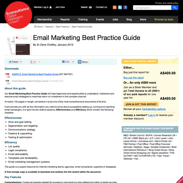 Email Marketing Best Practice Guide Homepage