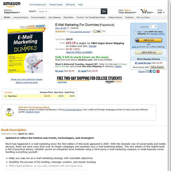 Email Marketing For Dummies Homepage