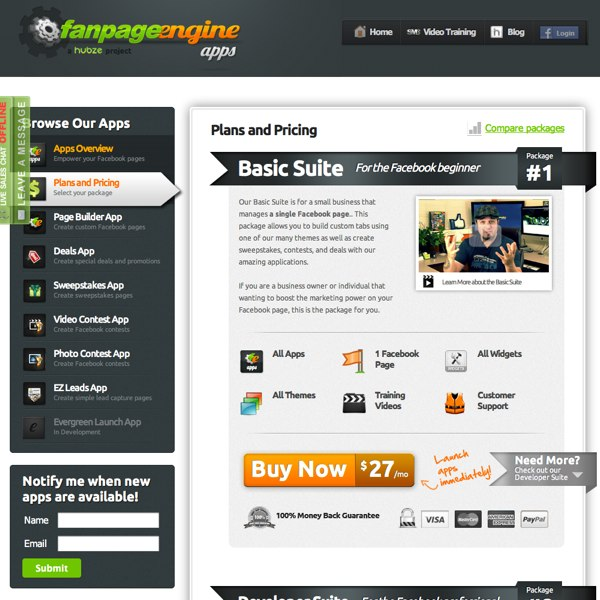 FanPageEngine Plans and Pricing