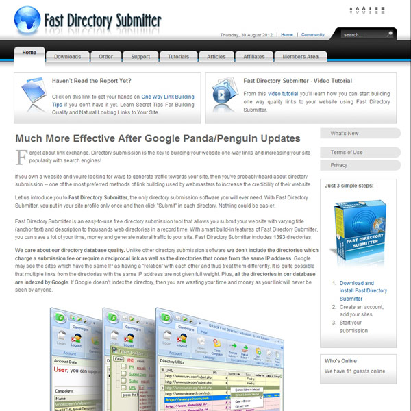 Fast Directory Submitter Homepage