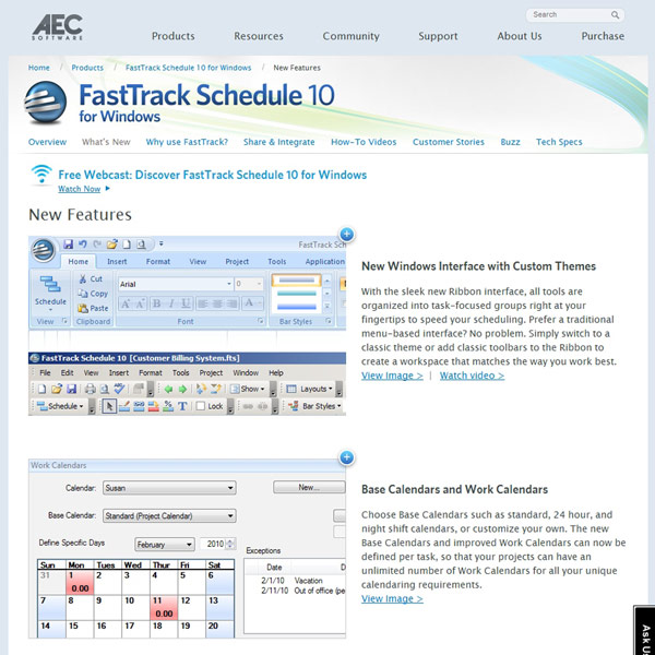 FastTrack Schedule Features