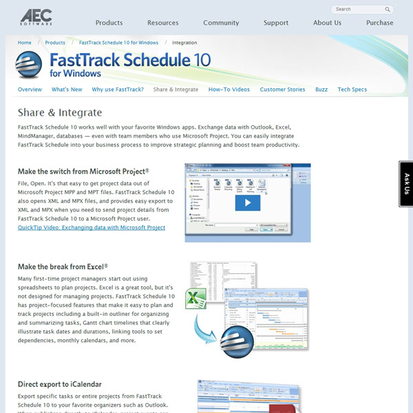 FastTrack Schedule Integration