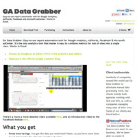 GA Data Grabber screenshot