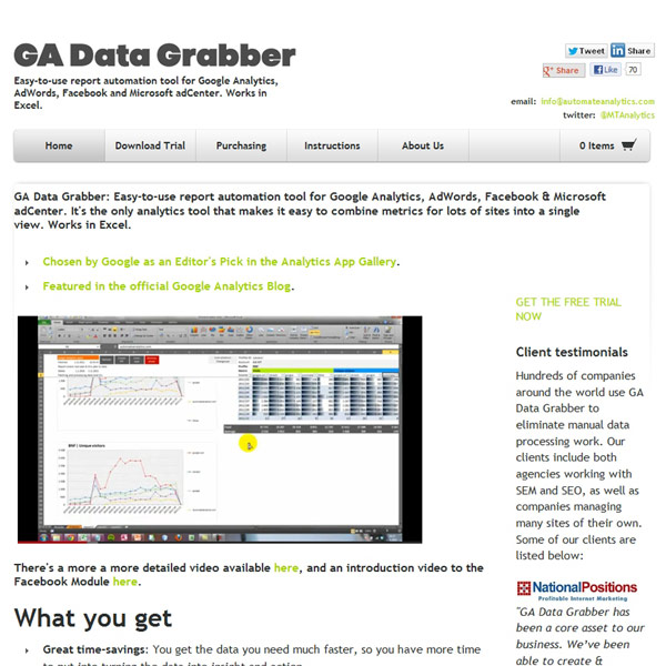 GA Data Grabber Homepage