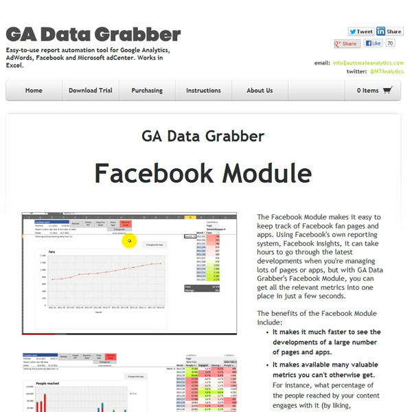 GA Data Grabber Facebook