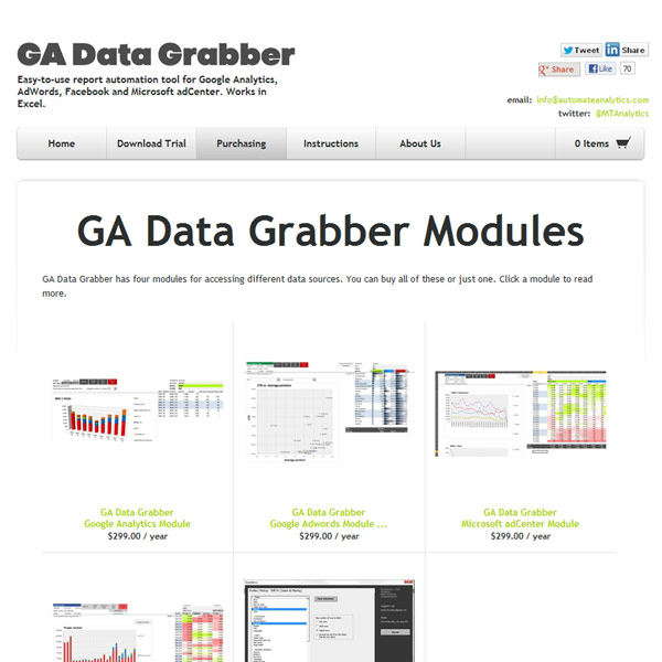 GA Data Grabber Pricing