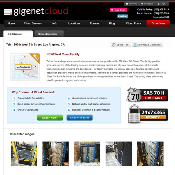 GigeNET Cloud LA Datacenter
