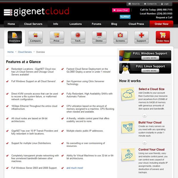 GigeNET Cloud Overview