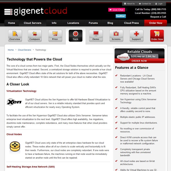 GigeNET Cloud Technology