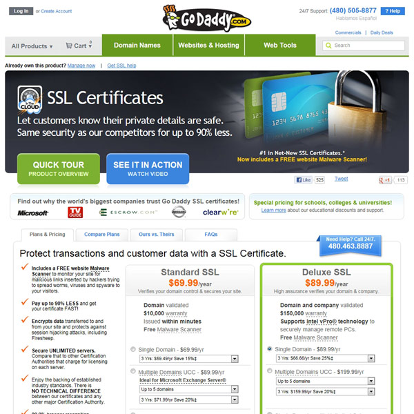 Go Daddy SSL Certificates