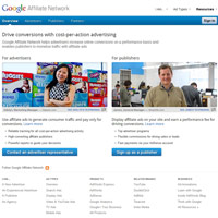 Google Affiliate Network screenshot