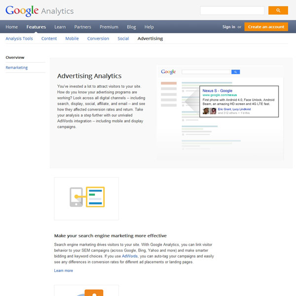 Google Analytics Advertising