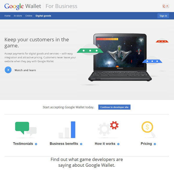 Google Wallet Digital Goods