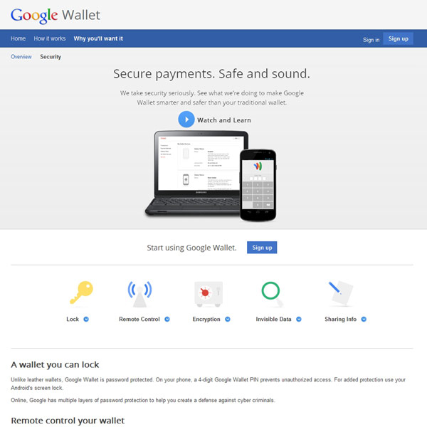 Google Wallet Secure Payments