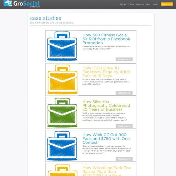 GroSocial Case Studies