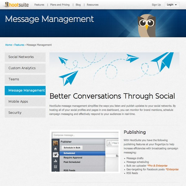 HootSuite Message Management